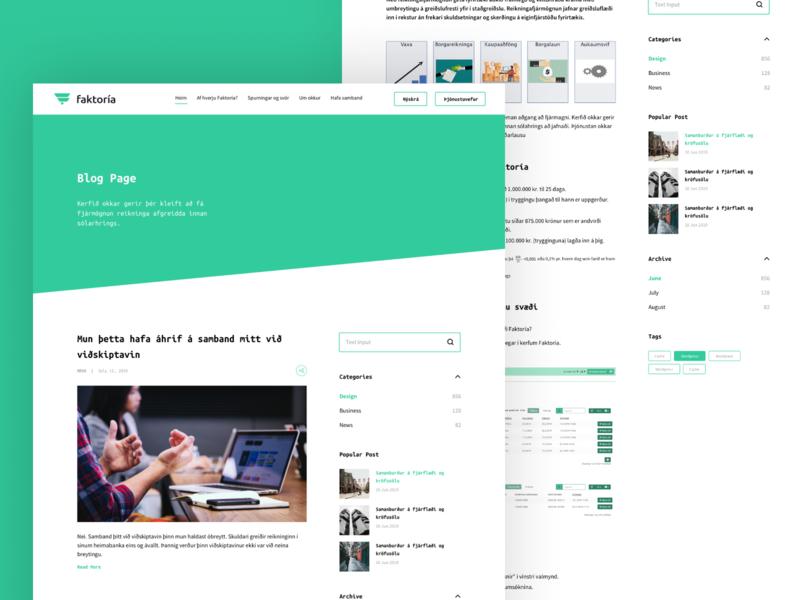 Blog Page Design ux branding website web flat app typography illustration minimal design