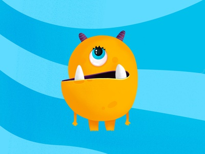 monster illustration artwork art colorful cartoons cartoon character minimal flat monster draw drawing 2d character cartoon design vector illustration