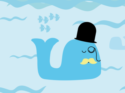 Mister Whale is on a pleasant promenade