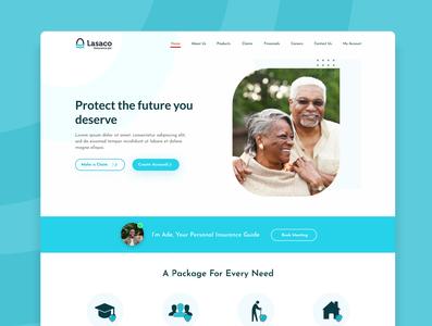 lasaco concept design for insurance firm. branding webdesign website fintech app design