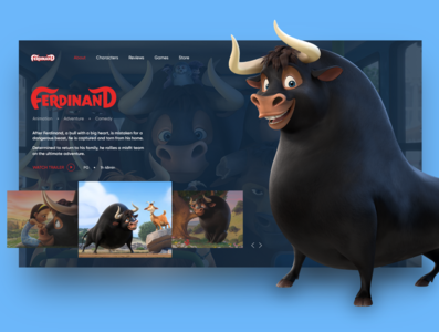 """Concept for animated movie """"Ferdinand"""""""