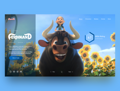 "Concept for animated movie ""Ferdinand"" N2"