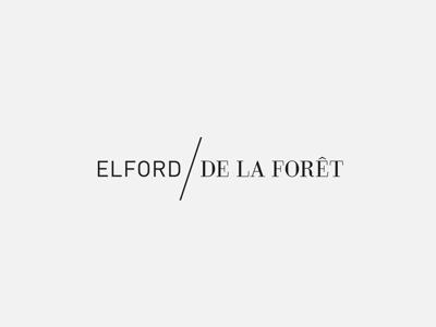 Elford/De La Forêt logo branding minimal