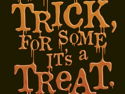 Marmite Trick or Treat Typography typography design