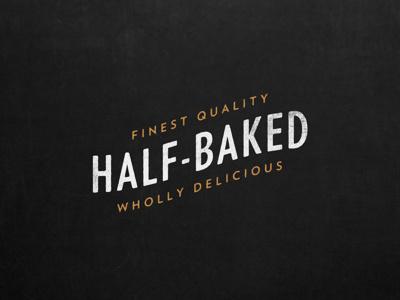 Half-Baked branding logo typography
