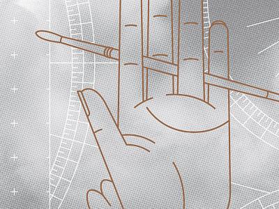 Antalis DIY Journal illustration clouds hand vector line