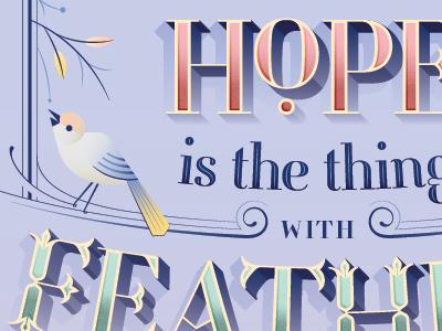 Fontspiration bird hope vector typography typofonderie