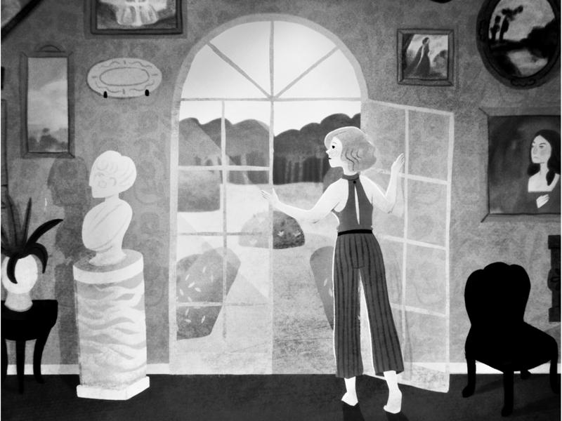 Georgie character design illustration mystery england 40s film noir vintage