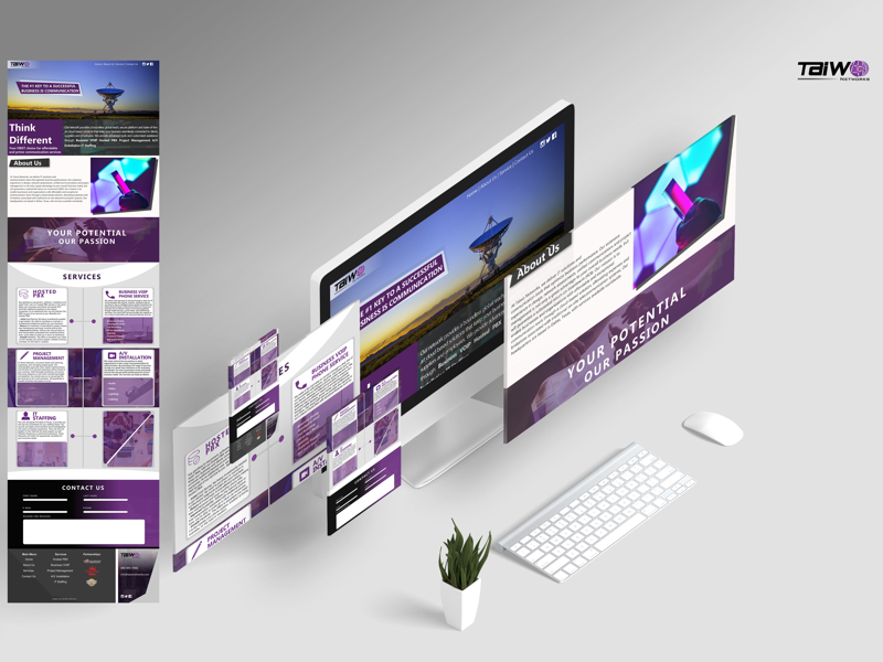 Hosted Services Site ui ux website