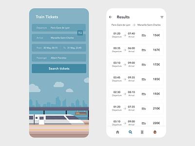 Train Tickets railroad illustration vector redesign ticket booking ticket app tickets ticket booking app booking ui app design xd design minimal beautiful prototype clean adobe xd app