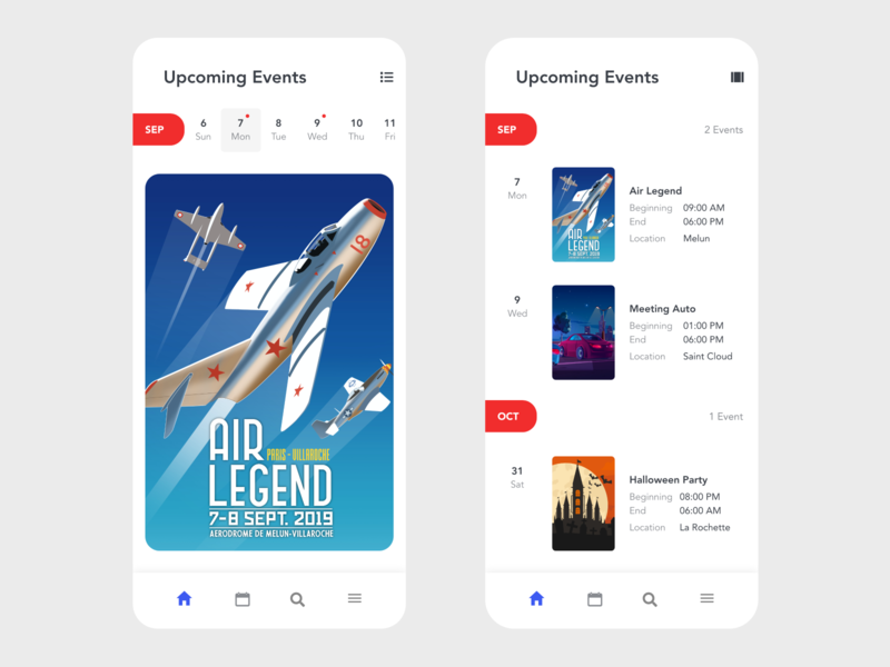 Events timeline events app shedule meeting meeting app event app calendar design calendar app calendar ui calendar redesign free ui design minimal beautiful prototype clean adobe xd app