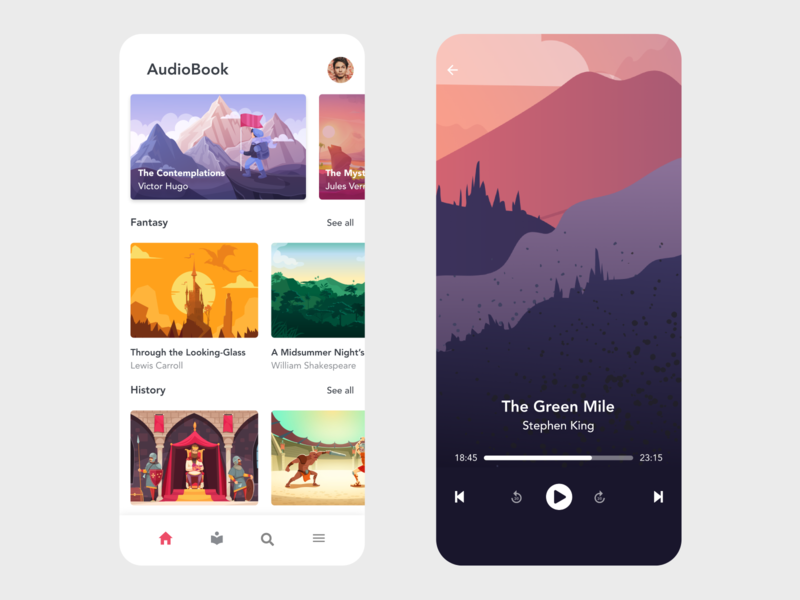 Audiobook music player music app music player ui player audiobooks audio app audiobook audio player audio redesign ui free app design design minimal beautiful prototype clean app