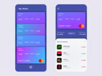 Wallet walletapp wallet ui wallets wallet app wallet bank card bank app banking app banking bank app design vector redesign free ui beautiful minimal prototype clean app