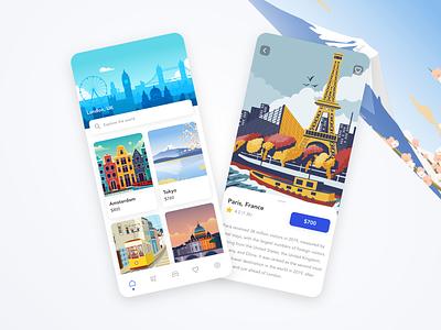Travel app design ui prototype tourism app adobe xd template travel travel app booking booking app flight traveling explore adventure tourism trip