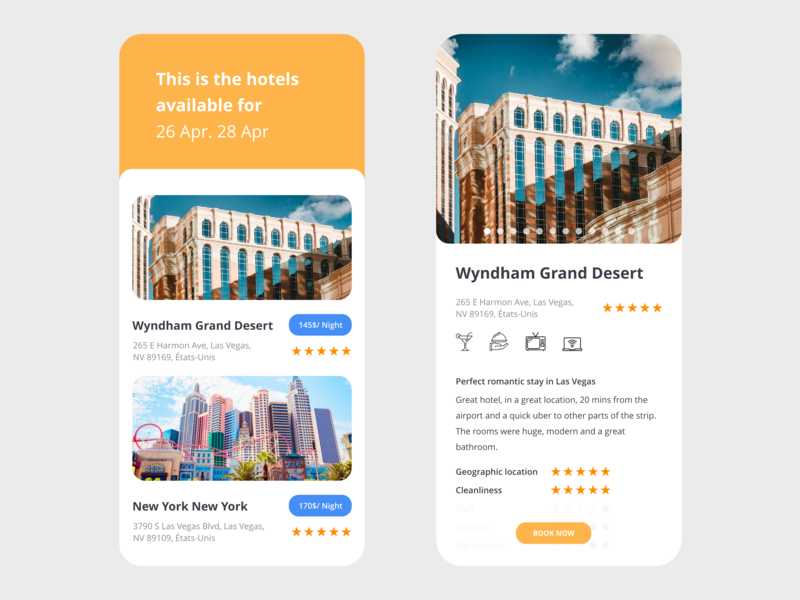 Booking by Mickael Guillaume on Dribbble