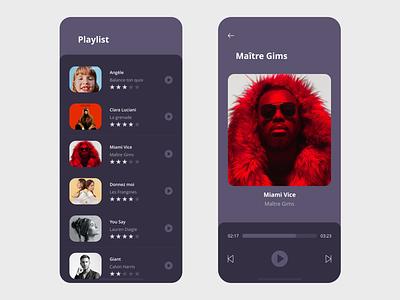 Playlist App music player xd vector ui prototype free templates free resource free template free beautiful clean dark app dark ui dark app design app adobe xd adobe