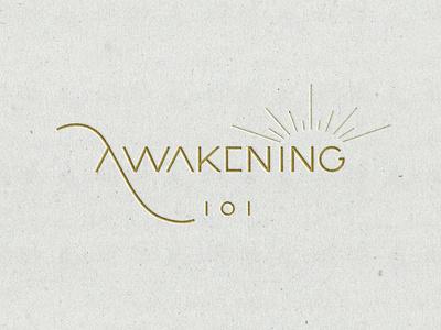 Awakening Logo Concept simple branding101 typogaphy jillstclaircreative typography jillstclair logodesign logo design branding
