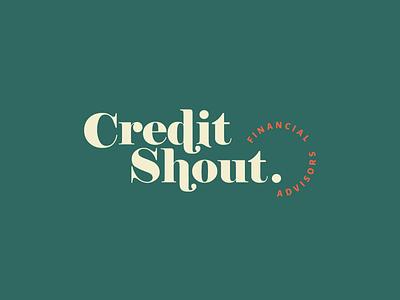 Credit Shout Branding typogaphy branding101 retro design retro typography jillstclaircreative logodesign jillstclair logo design branding