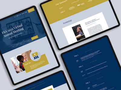 FSA Meeting Web Mockup icon ux ui simple web design jillstclaircreative design website design webdesign jillstclair