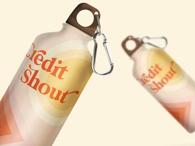 Credit Shout Bottle logo mockup branding identity branding concept branding mockup mockup logodesign jillstclaircreative jillstclair logo design branding