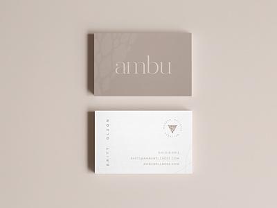 Ambu Business Card Mockup business card mockup business card design mockup simple logodesign jillstclaircreative jillstclair logo design branding