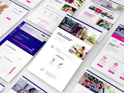 Essity Web Mockup ui design branding web mockup website webdesign web design jillstclaircreative jillstclair
