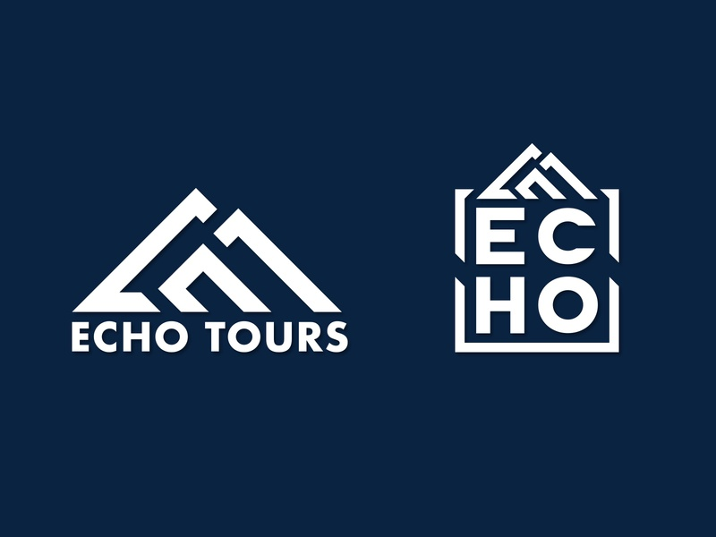 Echo Tours Logo logo design ski snowboard branding design logo