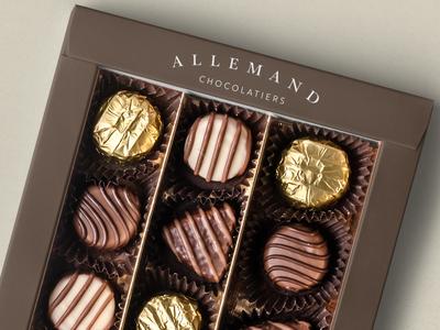 Allemand Chocolatiers Packaging