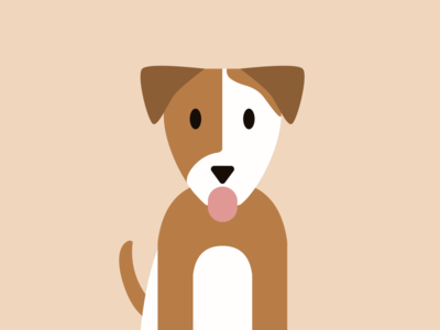 Flat Design - Dog digital design pet flat illustration dog illustration illustration flat design dog