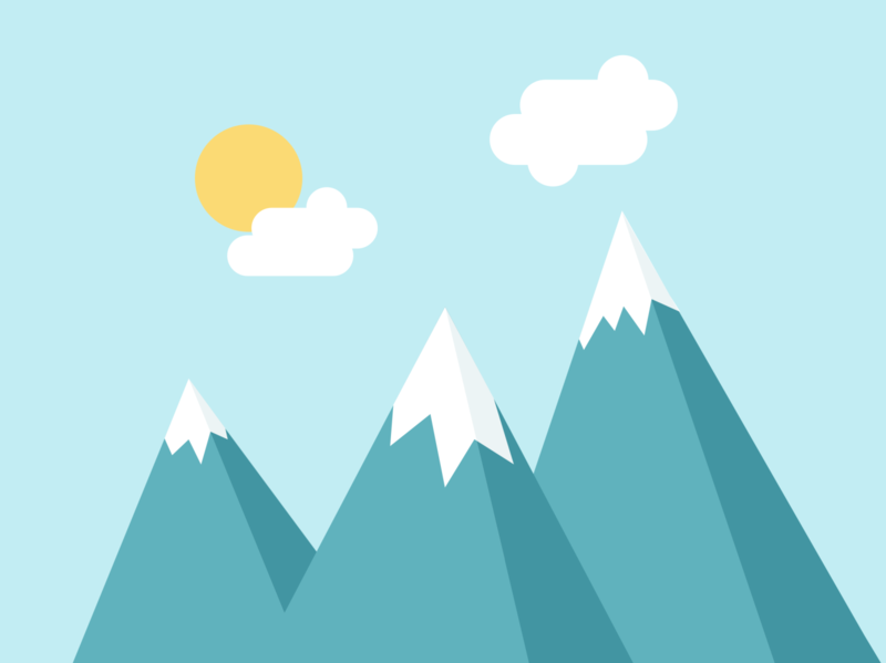 Flat design - Mountains in Switzerland design switzerland mountain snow climbing digital design illustration flat design
