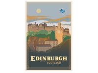 edinburgh travel poster