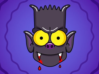 Bart the bat illustration