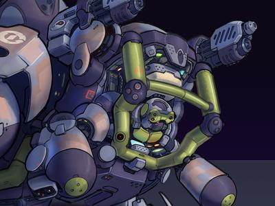 Boarding Craft APC Mecha Design Head Detail visual development science fiction visdev vehicle robot mecha illustrator illustration drawing design concept comics