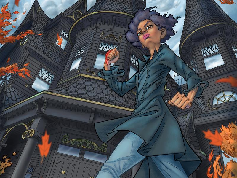 Illustration for The Black Coats novel ipad pro apple pencil procreate app cartoon comics cover book drawing character young adult ya illustration