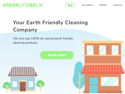 Landing Page Design for an All-natural Cleaning Service