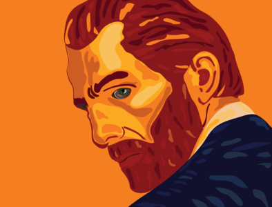 Loving Vincent portrait art portrait illustration loving vincent van gogh vincent van gogh design adobe illustrator illustration