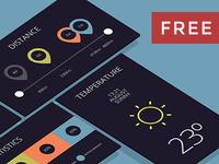 FREE 3D Flat App mockup