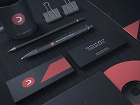 Black Stationery / Branding Mock-Up