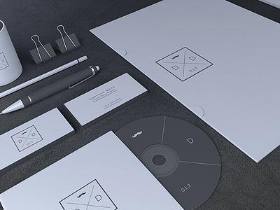Blank Stationery / Branding Mock-Up mockup mock-up freebie branding stationary stationery free download