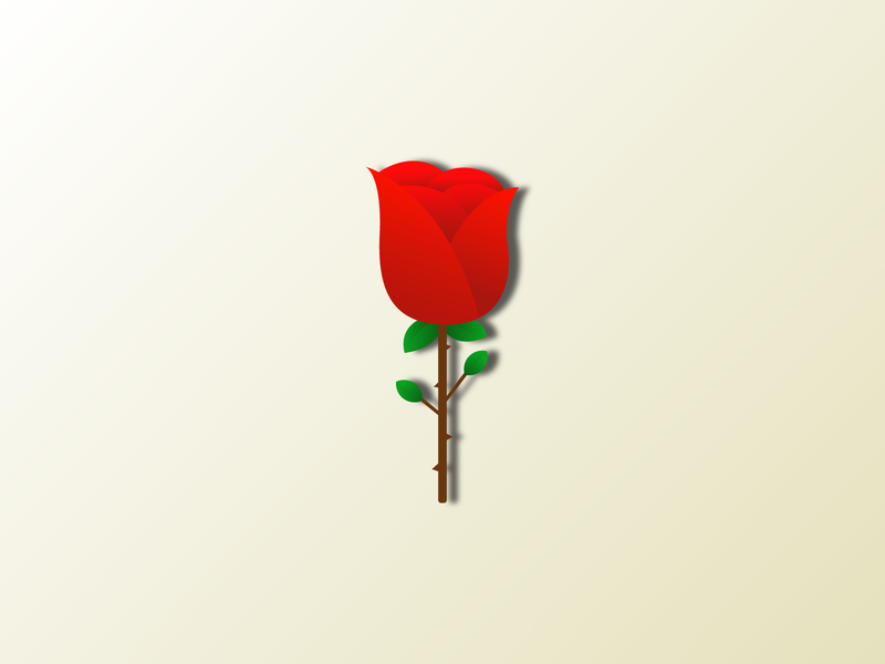 Red roses icon illustrator flower illustration flower logo colorful branding app logo illustration