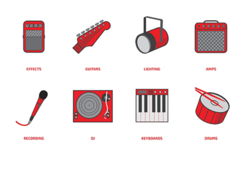 Icon Set - Guitar Center by Eric Perrin on Dribbble