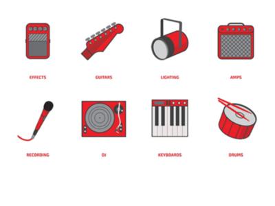 Icon Set - Guitar Center