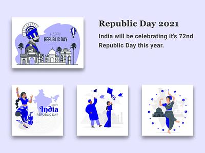 Republic Day 26 Jan 2021 productdesign graphic design design app proud indian 26jan2021 republic day republicans app design web design illustration figma design