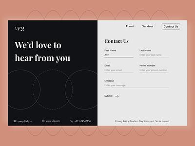 Contact Us web design mobile design app design figma branding designdesktop interface uxdesgin uidesign productdesign contactuspagedesign userinterfacedesign