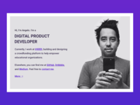 Angelo Cordon Digital Product Developer Landing Page