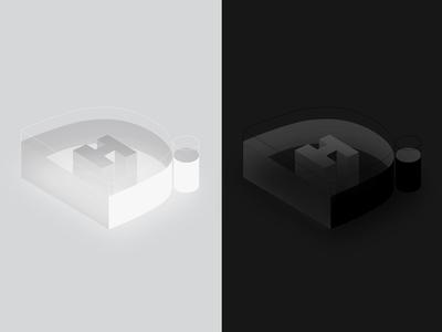 Initial Logo - Isometric