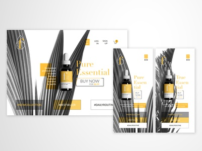 Beauty Product Landing Page - FineOils