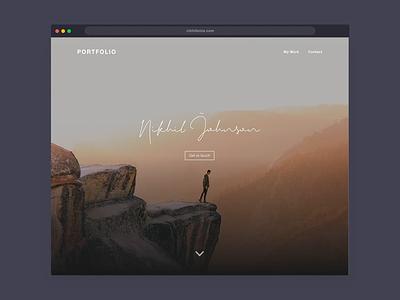 DailyUI 003 - Parallax Website Portfolio photographer portfolio interaction design ux design ui design web design parallax website