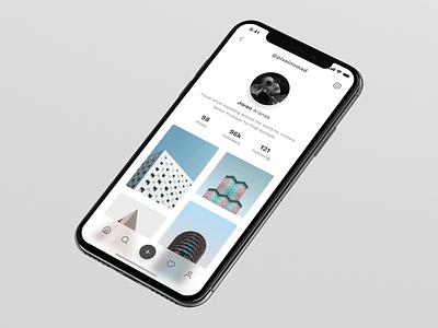 DailyUI 006 - User Profile instagram redesign product design userinterface uiux madewithxd adobexd branding appdesign dailyuichallenge interaction design