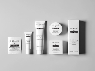 Organic skincare packaging/label design